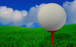 Golfers view Royalty Free Stock Photography