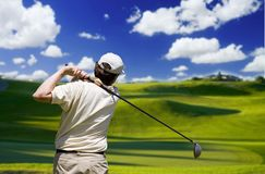 Golfeur Photo stock
