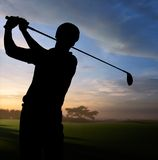 Golfeur Image libre de droits