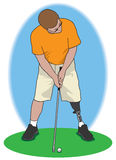 Golfeur d'amputé Photo stock