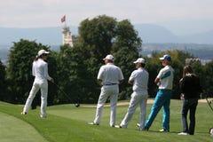 Golfeur professionnel Antti Ahokas images libres de droits