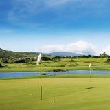 Golffält Royaltyfri Bild