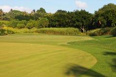Golffält Fotografering för Bildbyråer