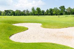 Golffält Royaltyfria Foton