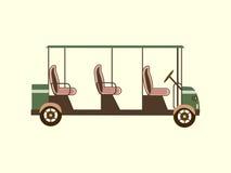 Golffarbauto einige Passagiere Lizenzfreie Stockbilder