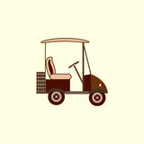 Golffarbautoelektro-mobil Stockfotografie