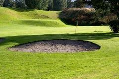 Golffeld. Stockbild