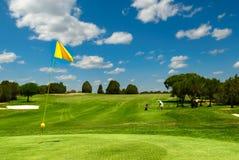 Golffeld Stockbild