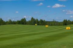 Golffeld Activefreizeit stockfotos