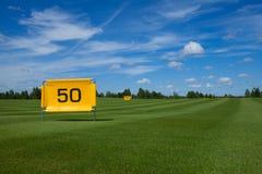 Golffeld Activefreizeit stockfoto