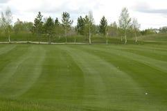 Golffeld für Bohrgeräte stockbild