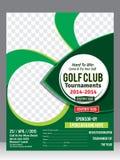 Golffliegerschablone u. Zeitschriftendesign vektor abbildung