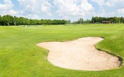 Golffält Arkivbilder