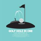 Golfgat in Één Sportsymbool Stock Afbeelding
