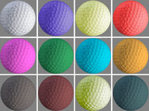Golfgat en bal royalty-vrije stock afbeeldingen