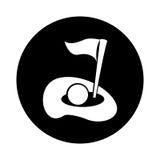 Golfgat geïsoleerd pictogram royalty-vrije illustratie