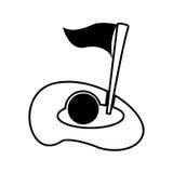 Golfgat geïsoleerd pictogram stock illustratie