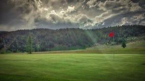 Golfgat met Zonnestraal in Fairmont-de Lentestoevlucht, Montana stock foto's
