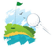 Golfgebied royalty-vrije illustratie