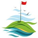 Golfgebied stock illustratie