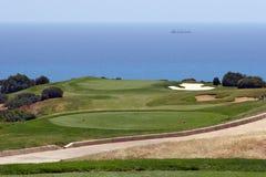 Golfgebied in Cyprus Stock Foto