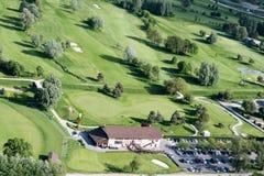 Golfgebied in Zwitserland royalty-vrije stock fotografie