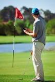 Golfgps-apparat arkivbilder