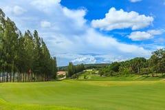 Golfgräsplan Fotografering för Bildbyråer