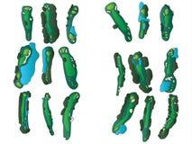 Golfhålorienteringar Royaltyfria Bilder