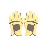Golfhandschoenen, de vectorillustratie van het sportmateriaal stock illustratie