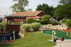 golfhålminiature Fotografering för Bildbyråer