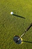 golfhol för 2 boll Royaltyfri Bild