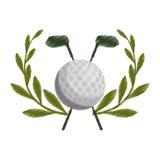Golfikonenbild lizenzfreie abbildung