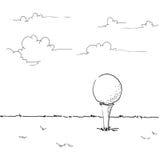 Golfillustration stock abbildung