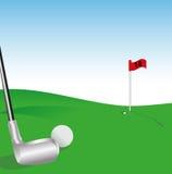 golfillustrationvektor Stock Illustrationer