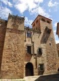 Golfines pałac, średniowieczny miasto, Caceres, Extremadura, Hiszpania Obrazy Stock