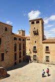 Golfines pałac, średniowieczny miasto, Caceres, Extremadura, Hiszpania Zdjęcie Royalty Free