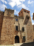 Golfines palace, medieval city, Caceres, Extremadura, Spain Stock Images