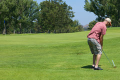 golfing άτομο Στοκ εικόνες με δικαίωμα ελεύθερης χρήσης