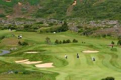 golfing κατοχή διασκέδασης Στοκ εικόνα με δικαίωμα ελεύθερης χρήσης