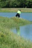golfing человек вне грубый Стоковое фото RF