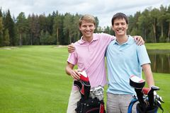 Golfing Royalty Free Stock Photo