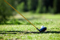 Golfing Royalty Free Stock Photo