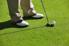 Golfing royalty free stock image