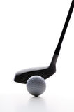 Golfing. Close up shot of golf swing Stock Images