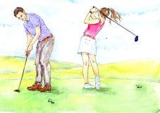 golfing lizenzfreie abbildung