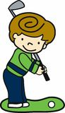 Golfing Boy Royalty Free Stock Image