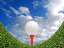 Golfing Challenge Royalty Free Stock Photography