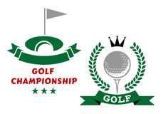 Golfing championship emblems or badges Stock Photo