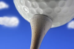 Golfing day Stock Images